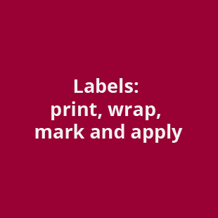 labels print, wrap , mark & apply